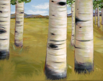 "Fine Art Print of ""Anniversary Aspens"" an original landscape painting"