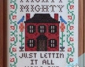 Colonial Brick Home - Instant Pattern