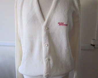 SALE  Mens White Pickering Cardigan   REDUCED Pricing see what else I have marked down