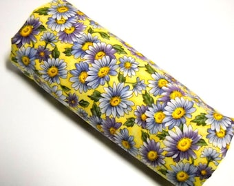Floral Print Fabric, Hoffman Fabrics, Sewing Material, Quilting Notions, 1 1/4 Yard Remnant, Purple, Yellow