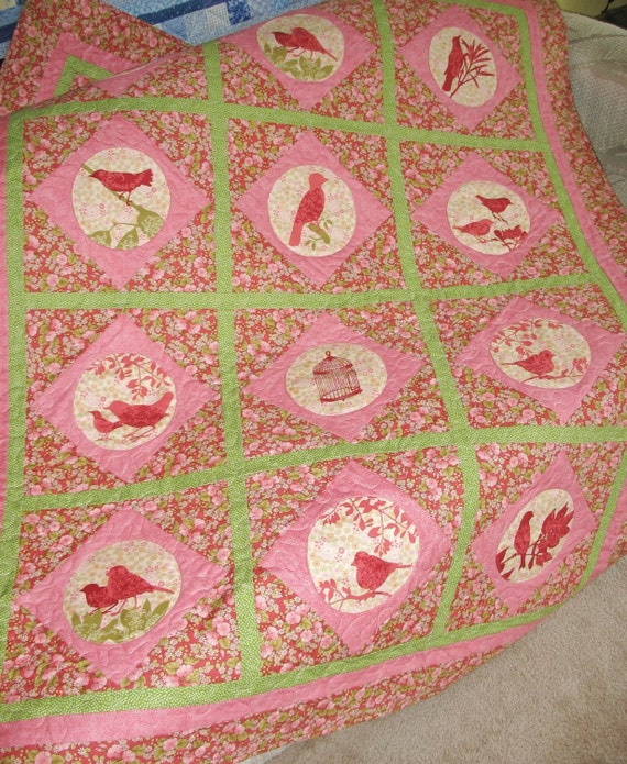 Perch Lap Quilt or Throw  fabric from Timeless Treasures