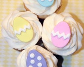 Fondant Cupcake Toppers 12 - Easter Egg Spring