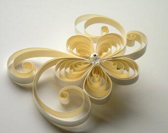 Ivory Wedding Hair Clip, Ivory Bridal Hair Accessory, Bridal Accessories for Hair, Bridal Hair Pieces