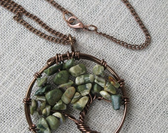 Tree of Life Pendant - Ryolite