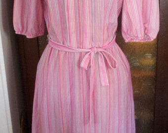 "candy stripes """" semi sheer pastel dress"
