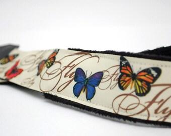 Butterfly Camera Strap slr- Butterfly Kisses