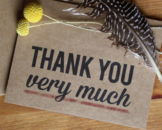 Thank You Very Much Card - Typographic Modern Thank You Card