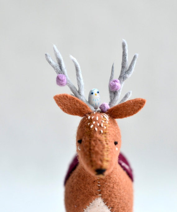 royal woodland deer - deer soft sculpture