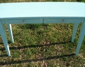 Computer desk, turquoise, blue, wood, FREE SHIPPING