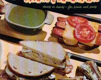Good Housekeeping Cookbook BREAD & SANDWICHES Vintage  1950s Cookbook ~ Gift Quality