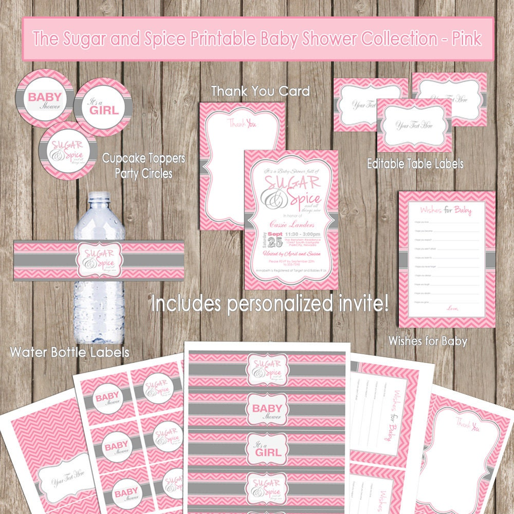 Sugar And Spice Baby Shower Invitations – gangcraft.net