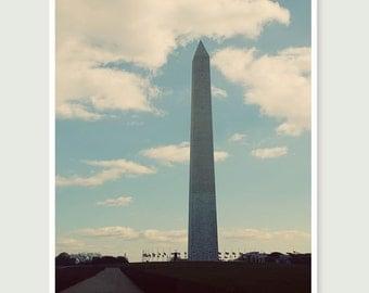 Washington DC photography, Washington monument, 11x14 fine art print
