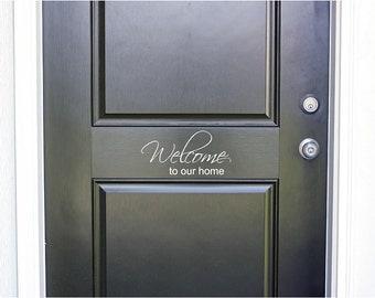 Give Thanks Door Decal Give Thanks Vinyl Door Decal Front - Custom vinyl decals for home