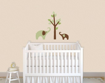 Elephant Jungle Tree children wall decal  Nursery Decor