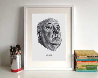 Alfred Hitchcock Poster Print Famous Movie Director