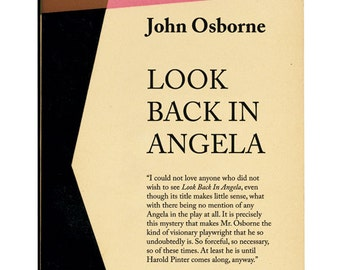 Look Back In Anger Poster Print by John Osborne Half-forgotten Plays Poster Print Look Back In Angela Literary Print