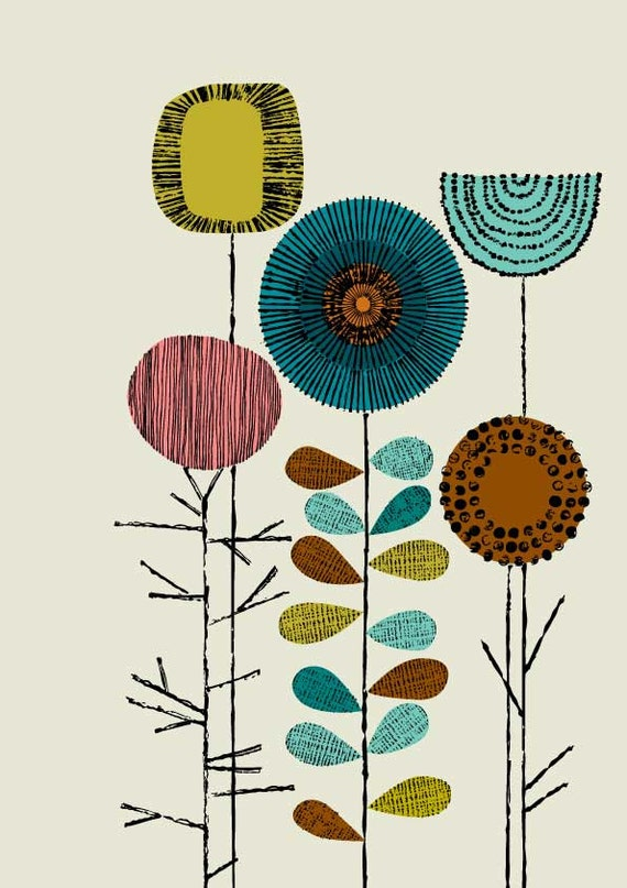 Embroidery Flowers Multi Bright, limited edition giclee print