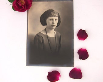 Almedia Young, Old Photograph, Lovely Young Woman, 5X7