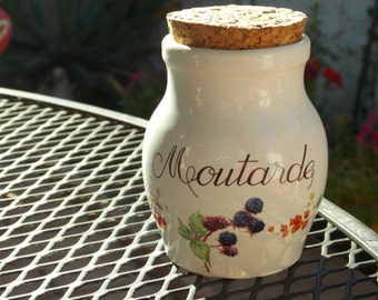 French Moutarde Jar