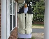 Vintage coat, retro coat, vintage jacket, French vintage, trench coat, rain coat, Hertha Amen Profile Skier's vest