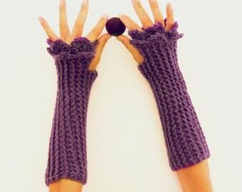 Fingerless Crochet Pattern  Mittens Grace PDF - beginners PHOTO TUTORIAL  - woman warm accessory gloves - Instant Download