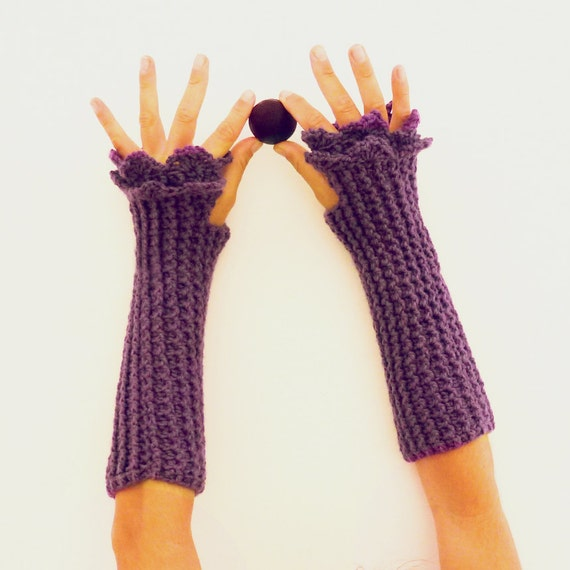 Fingerless Crochet Pattern Mittens Grace PDF - beginners PHOTO ...