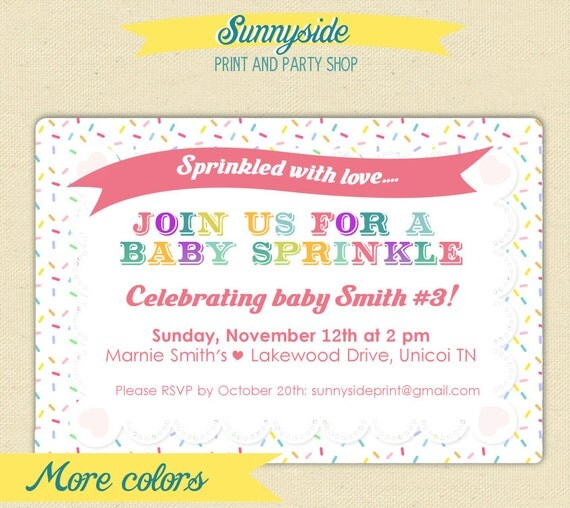 baby shower sprinkle invitation pink blue by sunnysideprintparty