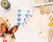 Vintage Heart Label Stickers- MULTI-PACK