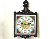 1960s Garden Clock Trivet