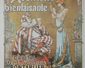 Vintage Poster, Absinthe Terminus, The Chap Book Magazine, Antique Print, Bevis, 1972