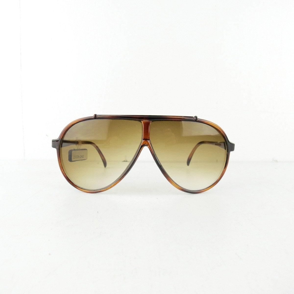 70s vintage aviator tortoise shell style acrylic sunglasses