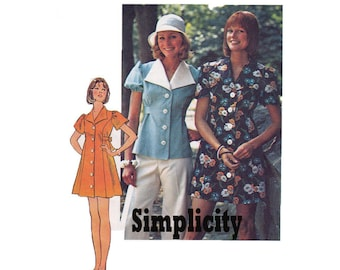 How to Sew Pattern Mini Dress with bikini panties top 1974 Sewing Pattern Size 8 or Size 10 Simplicity 6220
