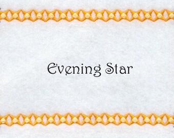 Custom Quilt Label Evening Star