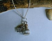 Jar of dirt necklace. Pirates of the Caribbean inspired necklace. Jack Sparrow.