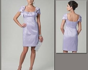 Badgley Mischka Womens Cocktail or Bridesmaid Dress OOP Vogue Sewing Pattern V1230 Size 16 18 20 22 Bust 38 40 42 44 FF American Designer