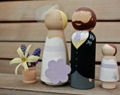 W E D D I N G  C A K E  T O P P E R Custom Wooden Bride and Groom Wedding Couple large size