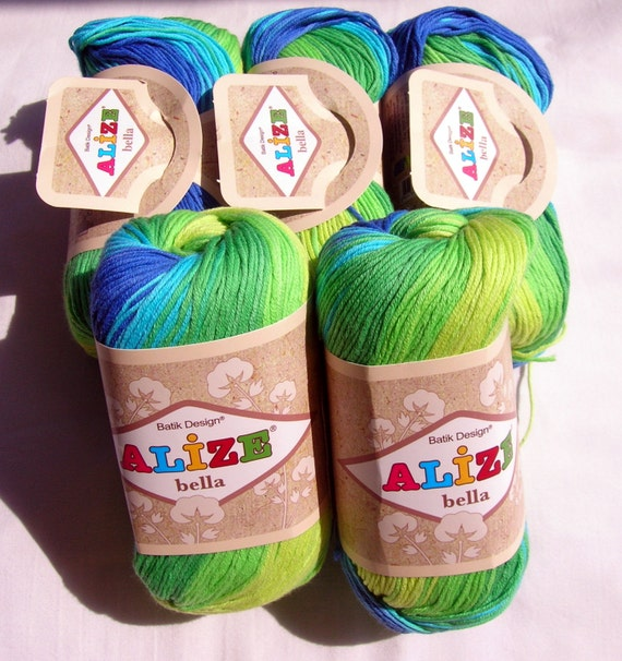 Pure Cotton Baby Yarn: Light Weight Alize Bella By HandyFamily