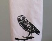 Owl decor tea towel