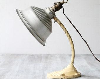 Vintage Industrial Goose Neck Lamp
