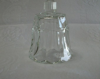 Home Interiors Vintage Clear Glass Flower Petal Shaped Candle Cup for a Candle Holder Sconce