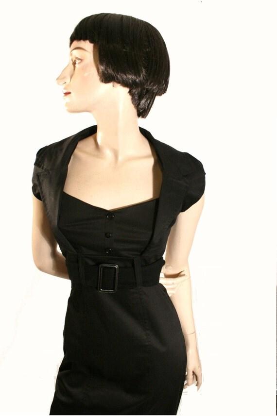 robe noir robe pinup robe tailleur robe par goodtimesbarcelona. Black Bedroom Furniture Sets. Home Design Ideas
