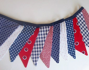 Fourth of July Banner / READY to SHIP /4th of July Bunting / Red, White and Blue Patriotic Banner/ Patriotic Photo Prop/ Bright Colors