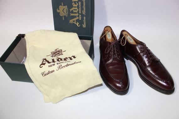 REDUCED...newer vintage -Alden- shoes Men's Norwegian HS split toe blucher. Model 964 - Burgandy calf. US Size 10 D