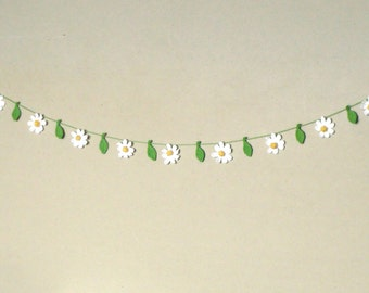 3d Crochet flower garland bunting daisy nursery decoration