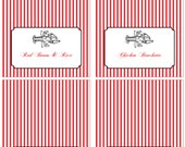 Crawfish Boil Party- Tent Style Food Labels- Print your own