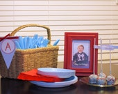 Helicopter Birthday Party- Flag Labels for Straws or Picks- print your own
