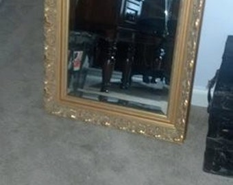 Gorgeous High End Vintage Bevelled Mirror by DeNunzio