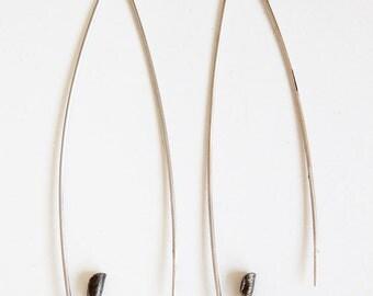 Silver earrings, Pin earrings, Minimal silver earrings, Long silver earrings, Minimal silver jewellery, Minimal earrings, Pin jewellery