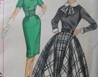 Fabulous Vintage 50's Junior Dress Pattern With SLIM Or Full CIRCLE SKIRT