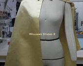 Burt Ward style Wonder Boy Yellow Satin Superhero Sidekick  adult Costume Cape,